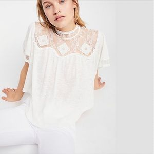 Free People Cape May Lace Top NWT